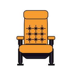 Cinema chair isolated vector
