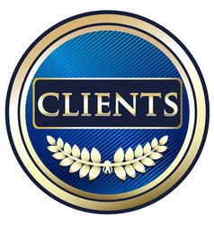 Clients Blue Label vector image