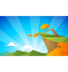 cliff background vector image