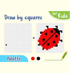 copy picture draw squares game for small vector image