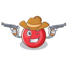 cowboy christmas ball character cartoon vector image