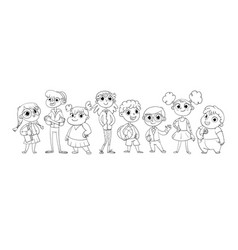 cute variety of children vector image