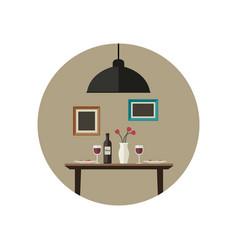 dinner flat vector image