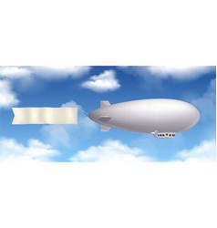 dirigible realistic composition vector image