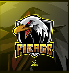 eagle sport mascot logo design vector image