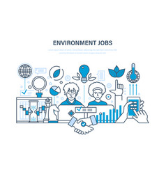 Environment jobs workflow workplace partnership vector