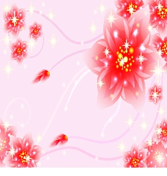Fantasy floral wallpaper vector