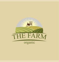 farm logos design vector image
