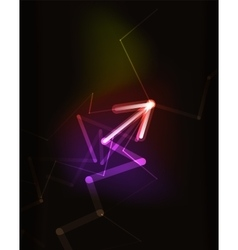 Glowing arrow in dark space vector image