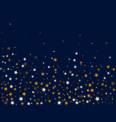 gold and white stars on a dark background vector image