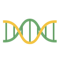 green yellow dna icon flat style vector image
