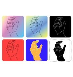 Hand line art vector