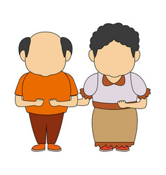 happy grandpa and grandma standing lovely people vector image