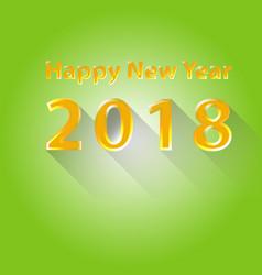 happy new year 2018 flat design vector image