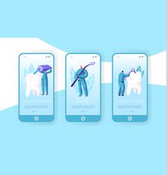 healthy medicine hygiene teeth mobile app page vector image
