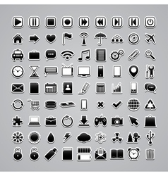 icons-stickers vector image vector image