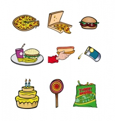 junk food collection vector image