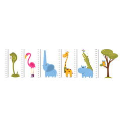 kids growth rulers children room wall decors vector image