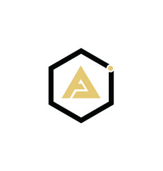 Letter a logo in a triangular shape inside the box vector