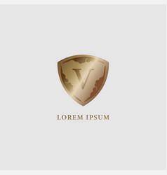 Letter v alphabet logo design template luxury vector