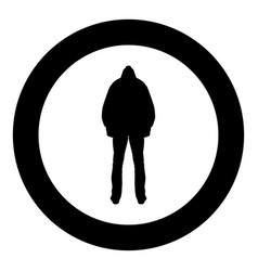 Man in the hood concept danger silhouette back vector