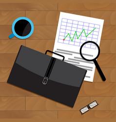 market trend chart vector image