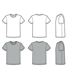 mens t shirt for template fashion casual vector image