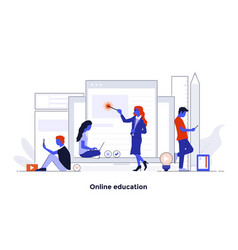 modern flat design concept - online education vector image