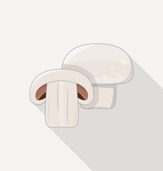 Mushroom Flat Icon vector image