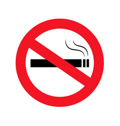 no smoking icon in flat style dont smoke smoking vector image
