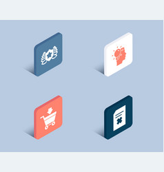 online market idea and laureate icons delete vector image