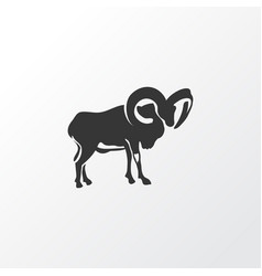 Ovis icon symbol premium quality isolated ram vector
