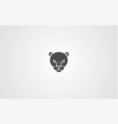panther icon sign symbol vector image