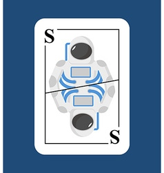 Playing card Spaceman Conceptual new card vector