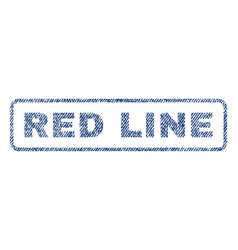 Red line textile stamp vector