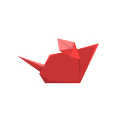 red paper mouse made in origami technique vector image