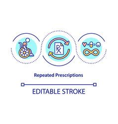 Repeated prescriptions concept icon vector
