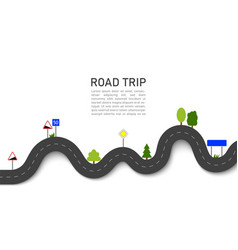 road trip 3d navigation and location on trip vector image