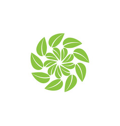 rotated leaf or leaf swirl for your logo design vector image