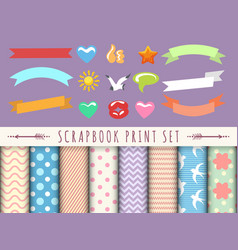 scrapbook kid collection vector image