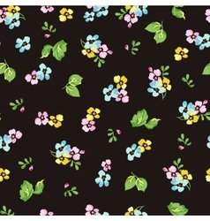seamless pattern with small blue flowers forget vector image
