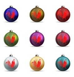 Set Colors Christmas balls vector