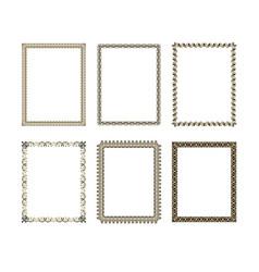 Set luxury decorative frame vector