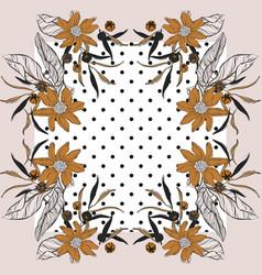 Tile floral vintage modern print geometric vector