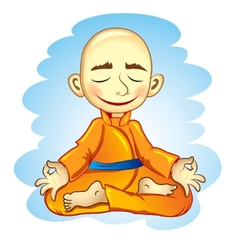 Vecor of joga in meditation vector image