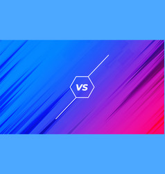 Vibrant versus vs banner for competition challenge vector