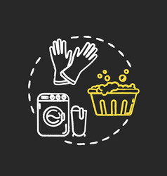 Wash laundry thoroughly chalk rgb color concept vector