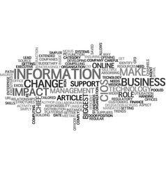 Where cios can make the biggest impact text word vector
