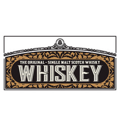 Whiskey label for packing layered vector