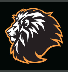 Wild lion head esports mascot logo icon des vector